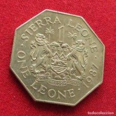 Monedas antiguas de África: SIERRA LEONA 1 LEONE 1987 #2. Lote 287961663