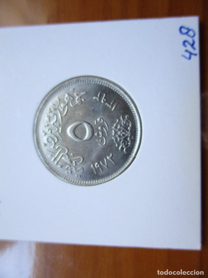 EGIPTO - 5 PIASTRES 1972 (Numismática - Extranjeras - África)
