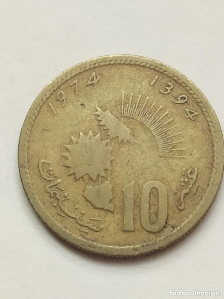Monedas antiguas de África: ## Marruecos 1974 10 Santimat ## - Foto 2 - 289689008