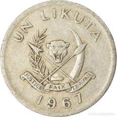 Monedas antiguas de África: [#763447] MONEDA, CONGO, REPÚBLICA DEMOCRÁTICA DEL, LIKUTA, 1967, MBC, ALUMINIO, KM:8. Lote 290091048