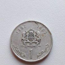 Monedas antiguas de África: 1 DIRHAM 1987 MARRUECOS MONEDA DIRHAM. Lote 290103013