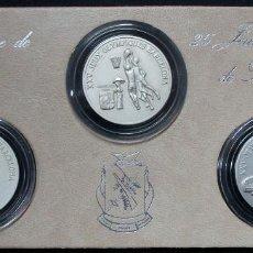 Monedas antiguas de África: REPUBLICA DE GUINEA, 1988. SET OFICIAL JUEGOS OLIMPICOS DE BARCELONA'92. PLATA PURA. FDC. LOTE 3901. Lote 290255413
