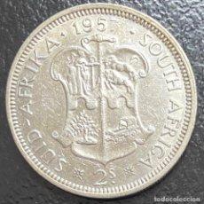 Monedas antiguas de África: SUDÁFRICA, MONEDA DE PLATA DE 2 CHELINES, AÑO 1957. Lote 294145433