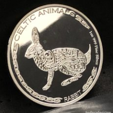 Monedas antiguas de África: MONEDA LINGOTE ONZA DE PLATA PURA - CONEJO 2021 CHAD. Lote 294459338