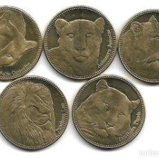 Monedas antiguas de África: SOMALILANDIA,5 CHELINES 2016,FELINOS,S/C.. Lote 294479668