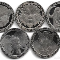 Monedas antiguas de África: SIERRA LEONA,1 DOLAR 2019,ANIMALES SALVAJES,S/C.. Lote 294480268