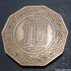 Monedas antiguas de África: MONEDA ARGELIA10DINARES AÑO 1981. Lote 294496948