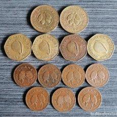Monedas antiguas de África: LOTE 13 MONEDAS 1 Y 50 PESEWA Y 1 CEDI - GHANA. Lote 294501208