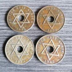 Monedas antiguas de África: LOTE 4 MONEDAS 1 PENIQUE - BRITISH WEST AFRICA. Lote 294503603