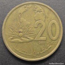 Monedas antiguas de África: MARRUECOS, 20 SANTIMAT 2011. Lote 294511278
