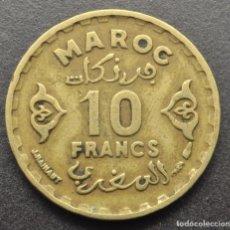 Monedas antiguas de África: MARRUECOS, 10 FRANCOS 1952. Lote 294511338