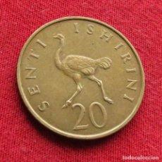 Monedas antiguas de África: TANZANIA 20 SENTI 1966. Lote 295545578