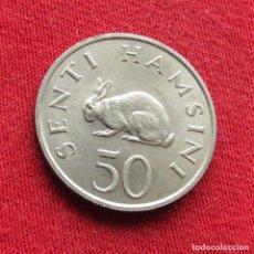 Monedas antiguas de África: TANZANIA 50 SENTI 1966. Lote 295545848