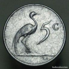 Monedas antiguas de África: 5 CENTS SUDAFRICA 1965. Lote 295636883