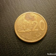 Monedas antiguas de África: MARRUECOS 20 SANTIMAT 2011. Lote 296734683