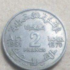 Monedas antiguas de África: MONEDA DE MARRUECOS, EMPIRE CHERIFEN, 1370, 2 FRANCOS. Lote 296755883