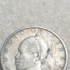 Monedas antiguas de África: LIBERIA. MONEDA DE 25 CENTIMOS. 1960. PLATA.. Lote 296763898
