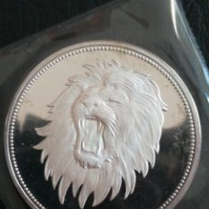 Monedas antiguas de África: ANTIGUA MONEDA 2 RIAL YEMEN 1969 LEÓN PLATA EN FUNDA DEL BANCO SIN ABRIR. Lote 296778718