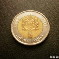 Monedas antiguas de África: MARRUECOS 5 DIRAHMS 1987. Lote 296780623