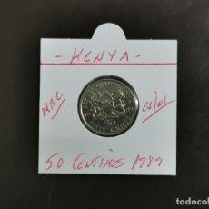 Monedas antiguas de África: KENIA(KENYA) 50 CENTIMOS 1989 MBC KM=19 (CUPRONIQUEL). Lote 297083393