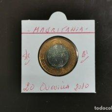 Monedas antiguas de África: MAURITANIA 20 OUGUIYA 2010 S/C KM=8 (BIMETALICA). Lote 297086793