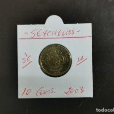 Monedas antiguas de África: SEYCHELLES 10 CENTIMOS 2003 S/C KM=48.2 (LATÓN). Lote 297087033