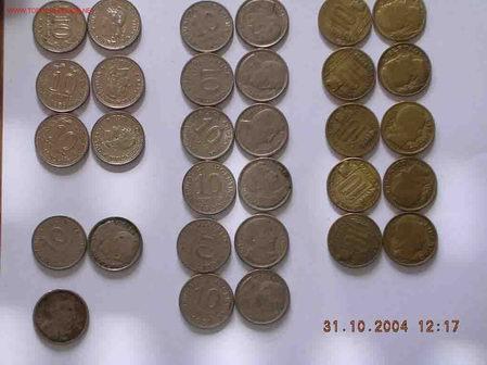 PRECIOSA SERIE MONEDAS ANTIGUAS VER DETALLE (Numismática - Extranjeras - América)