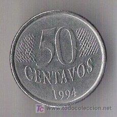 Monedas antiguas de América: MONEDA DE 50 CENTAVOS. BRASIL. 1994. KM 635.. Lote 5507931