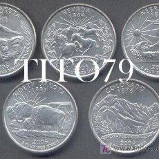 Monedas antiguas de América: SERIE ESTADOS UNIDOS 5 MONEDAS QUARTER 1/4 DOLAR 2006 CECA P. Lote 257389085