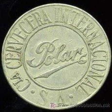 Monedas antiguas de América: FICHA OBSEQUIO DE HIELO DE LA CERVEZA POLAR - CUBA. Lote 232723935