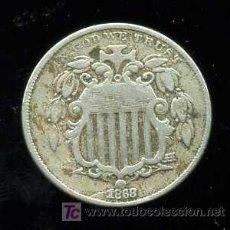 Monedas antiguas de América: ESTADOS UNIDOS :5 CENTAVOS 1868. Lote 26742403