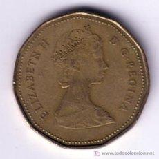 Monedas antiguas de América: MONEDA DE 1 DOLAR DE CANADA 1987. Lote 17831408