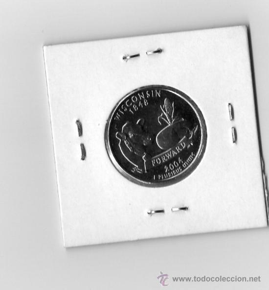 Monedas antiguas de América: UN CUARTO DE DOLAR AÑO 2004 IN GOLD WE TRUST WISCONSIN 1848 - Foto 2 - 26570268