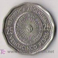 Monedas antiguas de América: 25 PESOS. REPUBLICA ARGENTINA. PRIMERA MONEDA PATRIA. 1964. KM61.. Lote 18769759