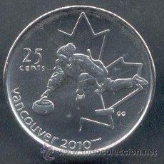 Monedas antiguas de América: CANADA 25 CENTS 2007 CURLING VANCOUVER 2010. Lote 57486466