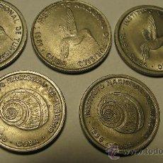 Monedas antiguas de América: LOTE DE 5 MONEDAS DE CUBA. Lote 26697236