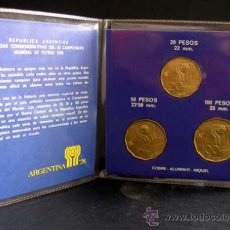 Monedas antiguas de América: CARTERA CONMEMORATIVA DEL MUNDIAL ARGENTINA 78 . Lote 15277315