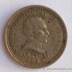 Monedas antiguas de América: MONEDA 2 CENTESIMOS URUGUAY 1953. Lote 15298490