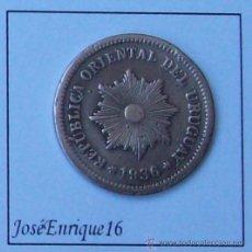 Monedas antiguas de América: MONEDA - URUGUAY 1936 2 CENTESIMOS. Lote 23879939