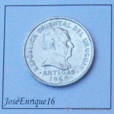Monedas antiguas de América: 1965 MONEDA URUGUAY - 20 CENTESIMOS. Lote 15440436
