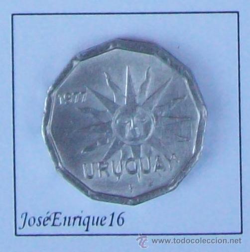 1977 URUGUAY MONEDA 1 CENTESIMO (Numismática - Extranjeras - América)