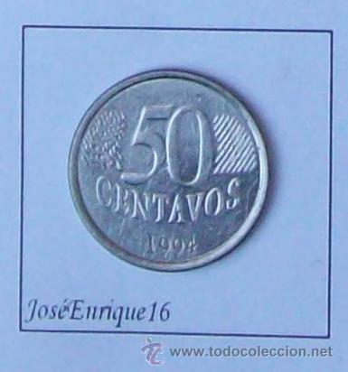 Monedas antiguas de América: 50 CENTAVOS BRASIL 1994 - Foto 2 - 15474672