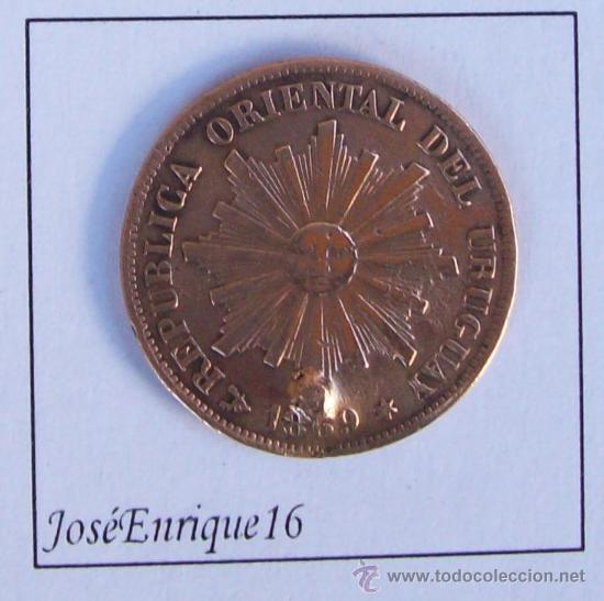 URUGUAY 1 MONEDA CENTESIMO 1869 (Numismática - Extranjeras - América)