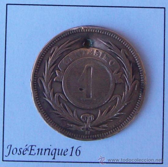 Monedas antiguas de América: URUGUAY 1 MONEDA CENTESIMO 1869 - Foto 2 - 24945206