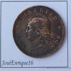 Monedas antiguas de América: REPUBLICA ARGENTINA 1884 - LIBERTAD DOS CENTAVOS. Lote 26420904