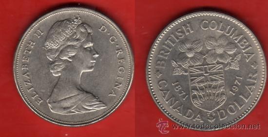 CANADA 1 DOLAR 1971, COLUMBIA BRITANICA (Numismática - Extranjeras - América)