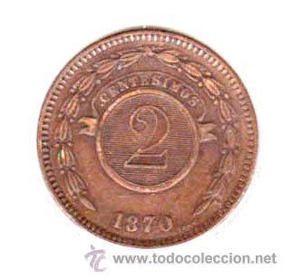 Monedas antiguas de América: PARAGUAY - 2 CENTESIMOS - 1870 - EBC - ESCASA - Foto 2 - 26384891