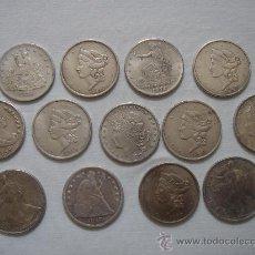 Monedas antiguas de América: ARRAS. 13 MONEDAS RÉPLICAS -UNITED STATES OF AMERICA- PARA ARRAS DE 3,75 CMS DE DIÁMETRO.. Lote 139064640