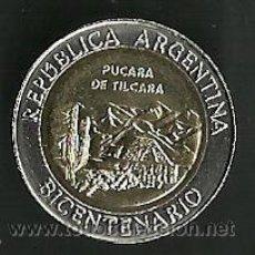 Monedas antiguas de América: ARGENTINA 1 PESO 2010 PUCARA DE TILCARA BIMETALICA. Lote 195260921