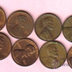 Monedas antiguas de América: ESTADOS UNIDOS - LOTE DE 12 MONEDAS DE 1 CENTAVO CIRCULADAS. Lote 26183760